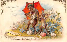 hol033039 - Easter Postcard, Old Vintage Antique Post Card