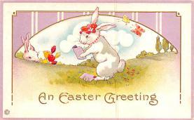 hol033043 - Easter Postcard, Old Vintage Antique Post Card