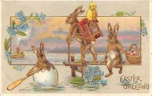 hol033045 - Easter Postcard, Old Vintage Antique Post Card