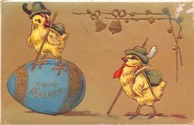 hol033051 - Easter Postcard, Old Vintage Antique Post Card