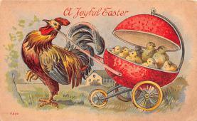 hol033053 - Easter Postcard, Old Vintage Antique Post Card