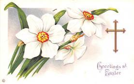 hol033055 - Easter Postcard, Old Vintage Antique Post Card