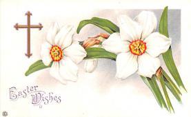 hol033057 - Easter Postcard, Old Vintage Antique Post Card