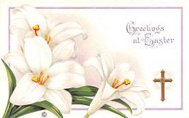 hol033059 - Easter Postcard, Old Vintage Antique Post Card
