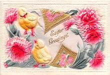 hol033061 - Easter Postcard, Old Vintage Antique Post Card