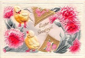 hol033061 - Easter Postcard, Old Vintage Antique Post Card