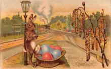 hol033063 - Easter Postcard, Old Vintage Antique Post Card