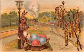 hol033063 - Easter Postcard, Old Vintage Antique Post Card