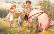 hol033065 - Easter Postcard, Old Vintage Antique Post Card