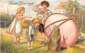 hol033065 - Easter Postcard, Old Vintage Antique Post Card