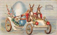 hol033069 - Easter Postcard, Old Vintage Antique Post Card