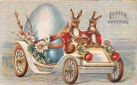 hol033069 - Easter Postcard, Old Vintage Antique Post Card