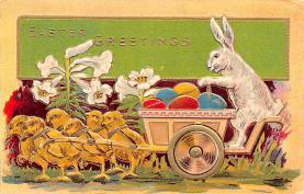 hol033073 - Easter Postcard, Old Vintage Antique Post Card