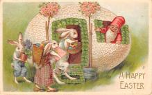 hol033077 - Easter Postcard, Old Vintage Antique Post Card