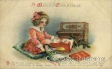 hol050018 - Artist Ellen Clapsaddle, Christmas Postcards Post Card