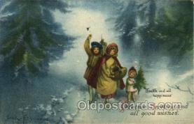 hol050042 - Artist Ellen Clapsaddle, Christmas Postcards Post Card
