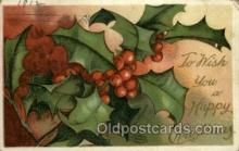 hol050058 - Artist Ellen Clapsaddle, Christmas Postcards Post Card