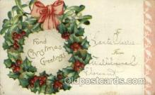 hol050062 - Artist Ellen Clapsaddle, Christmas Postcards Post Card