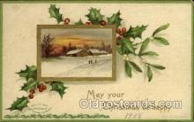 hol050072 - Artist Ellen Clapsaddle, Christmas Postcards Post Card