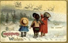 hol050092 - Artist Ellen Clapsaddle, Christmas Postcards Post Card