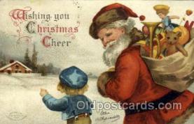 hol050097 - Artist Ellen Clapsaddle, Christmas Postcards Post Card