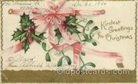 hol050112 - Artist Ellen Clapsaddle, Christmas Postcards Post Card