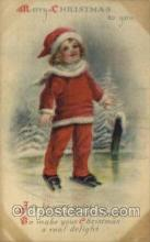 hol050145 - Wolf & Co Artist Ellen Clapsaddle, Christmas Postcards Post Card