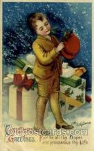 hol050146 - Artist Ellen Clapsaddle, Christmas Postcards Post Card