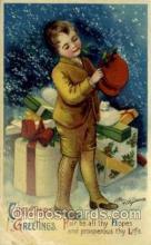 hol050146 - Artist Ellen Clapsaddle, Christmas Postcards Post Card