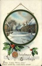 hol050219 - Artist Ellen Clapsaddle, Christmas Postcards Post Card