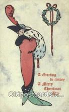 hol050242 - Christmas Postcard, Post Card Old Vintage Antique Carte, Postal Postal