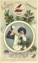 hol050243 - Christmas Postcard, Post Card Old Vintage Antique Carte, Postal Postal