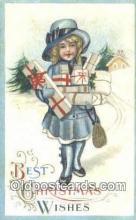 hol050247 - Christmas Postcard, Post Card Old Vintage Antique Carte, Postal Postal