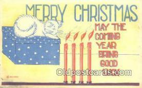 hol050251 - Christmas Postcard, Post Card Old Vintage Antique Carte, Postal Postal