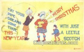hol050254 - Christmas Postcard, Post Card Old Vintage Antique Carte, Postal Postal