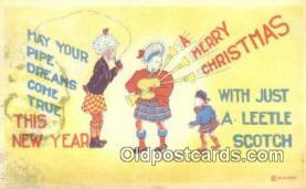 hol050260 - Christmas Postcard, Post Card Old Vintage Antique Carte, Postal Postal