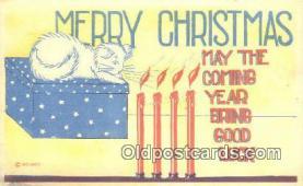 hol050261 - Christmas Postcard, Post Card Old Vintage Antique Carte, Postal Postal