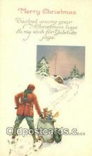 hol050284 - Christmas Postcard, Post Card Old Vintage Antique Carte, Postal Postal