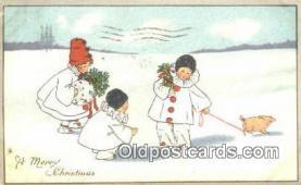 hol050285 - Christmas Postcard, Post Card Old Vintage Antique Carte, Postal Postal