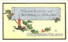 hol050304 - Christmas Postcard, Post Card Old Vintage Antique Carte, Postal Postal