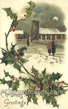 hol050306 - Christmas Postcard, Post Card Old Vintage Antique Carte, Postal Postal