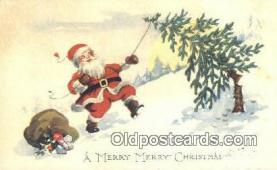 hol050307 - Christmas Postcard, Post Card Old Vintage Antique Carte, Postal Postal