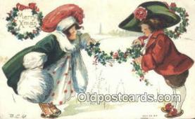 hol050310 - Christmas Postcard, Post Card Old Vintage Antique Carte, Postal Postal