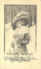 hol050311 - Christmas Postcard, Post Card Old Vintage Antique Carte, Postal Postal