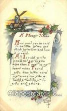 hol050312 - Christmas Postcard, Post Card Old Vintage Antique Carte, Postal Postal