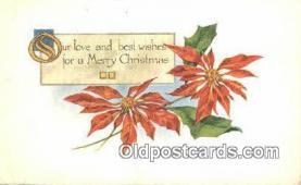 hol050313 - Christmas Postcard, Post Card Old Vintage Antique Carte, Postal Postal