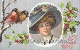 hol050317 - Christmas Postcard, Post Card Old Vintage Antique Carte, Postal Postal