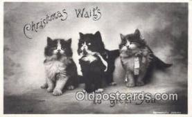 hol050318 - Christmas Postcard, Post Card Old Vintage Antique Carte, Postal Postal