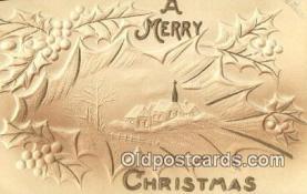 hol050321 - Christmas Postcard, Post Card Old Vintage Antique Carte, Postal Postal