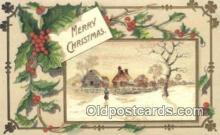 hol050322 - Christmas Postcard, Post Card Old Vintage Antique Carte, Postal Postal